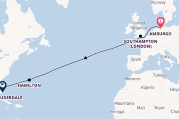 Attraversa l'Atlantico da Amburgo a Fort Lauderdale