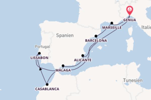 Kreuzfahrt mit der MSC Virtuosa nach Genua