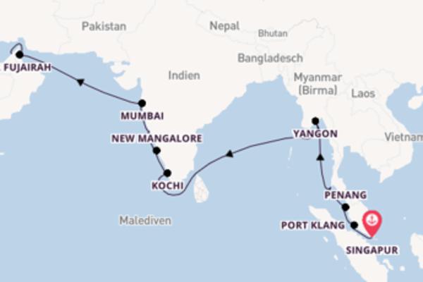 Von Singapur über Phuket in 19 Tagen