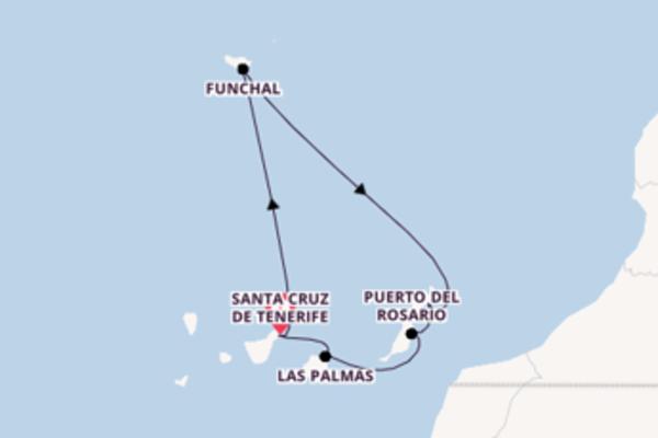 Entdecken Sie 8 Tage Funchal und Santa Cruz de Tenerife