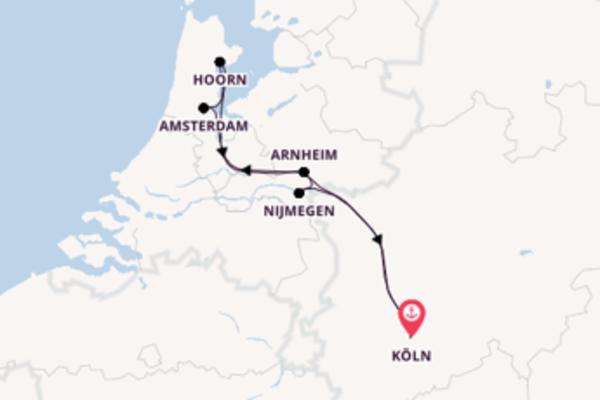 Köln, Deutschland und Nijmegen, Niederlande erkunden