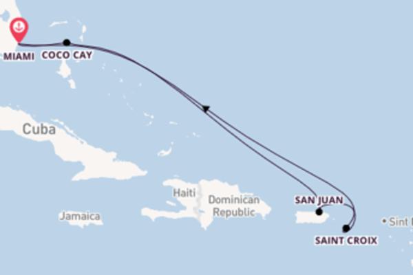 Viaggio da Miami verso Coco Cay