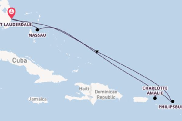 Meraviglioso viaggio di 8 giorni passando per Charlotte Amalie
