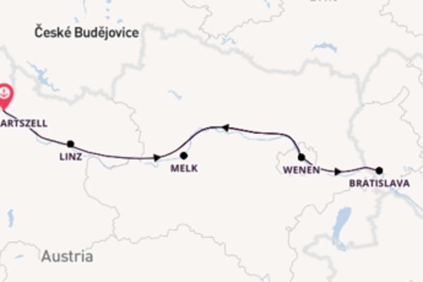 6-daagse cruise naar Melk