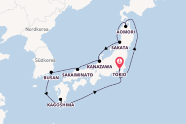 Atemberaubende Reise über Busan in 10 Tagen