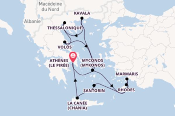 Myconos (Mykonos), depuis Athènes (Le Pirée) à bord du bateau Azamara Journey