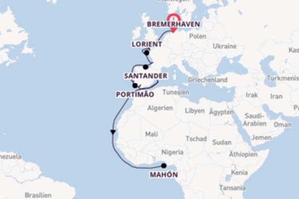 Rund um Westeuropa ins sonnige Mittelmeer