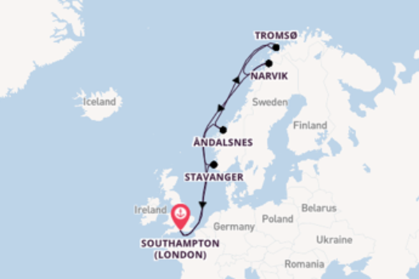 13 day voyage on board the Arcadia from Southampton (London)