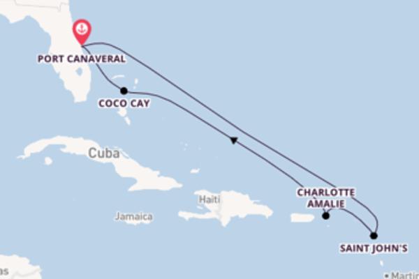 Viaggio da Port Canaveral verso Charlotte Amalie