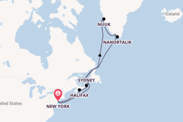 17 day voyage from New York