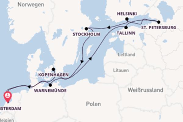 In 13 Tagen nach Amsterdam