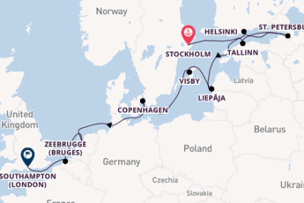 13 day voyage on board the Seven Seas Splendor from Stockholm