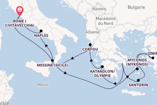 Splendide balade de 12 jours au départ de Rome (Civitavecchia)