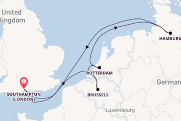 Journey with P&O Cruises from Southampton