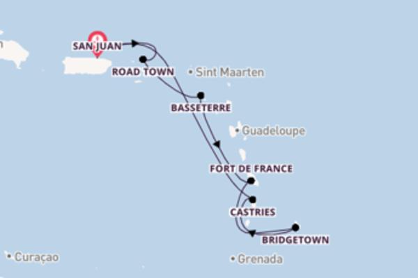 Lasciati conquistare da Basseterre arrivando a San Juan