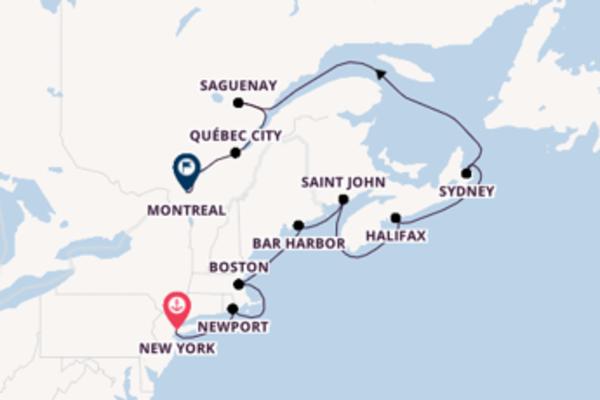 A bordo di Insignia fino a Montreal