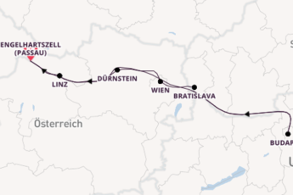 8 Tage Donau Kreuzfahrt