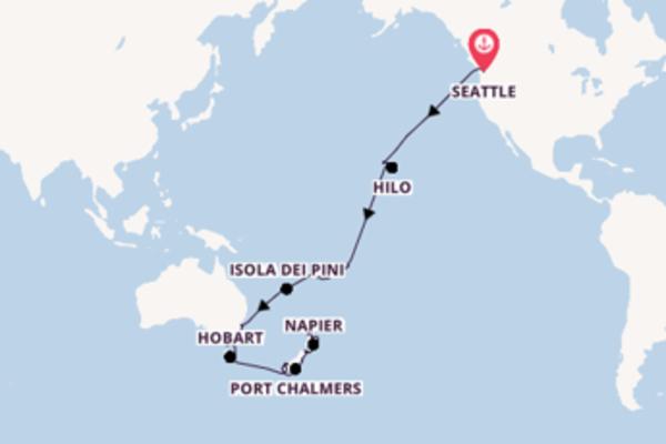 Straordinario viaggio da Seattle verso Port Chalmers