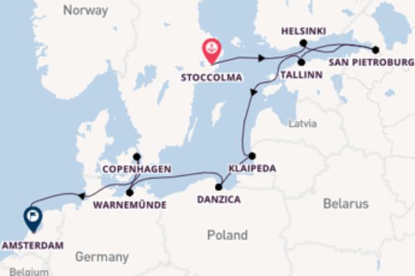Destinazione Amsterdam da Stoccolma