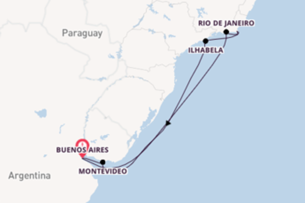9 day expedition from Buenos Aires