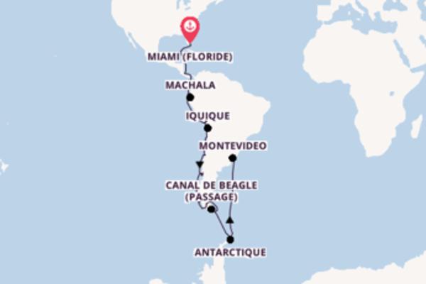 44 jours de navigation à bord du bateau Seabourn Quest vers Buenos Aires