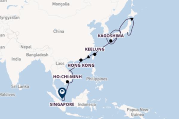 Prendere il largo verso Singapore da Tokyo
