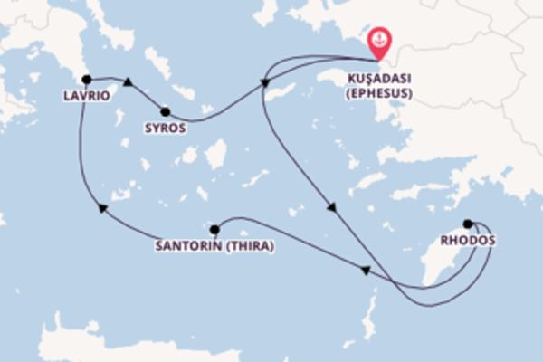 In 5 Tagen nach Kuşadası (Ephesus) über Lavrio