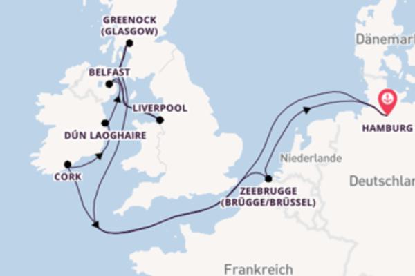 Faszinierende Reise über Belfast in 11 Tagen