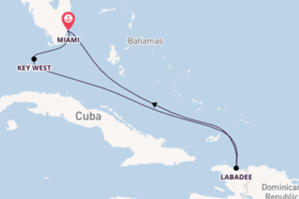 6 day expedition on board the Radiance of the Seas from Miami