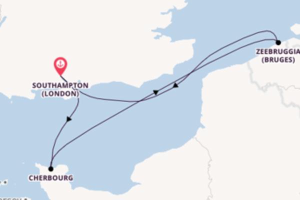 Crociera da Southampton (London) verso Cherbourg
