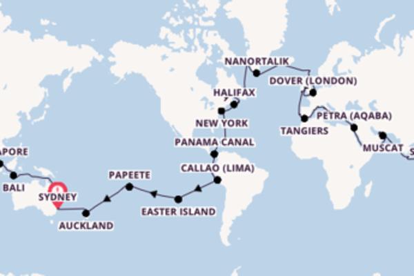 Sailing from Sydney via Lisbon