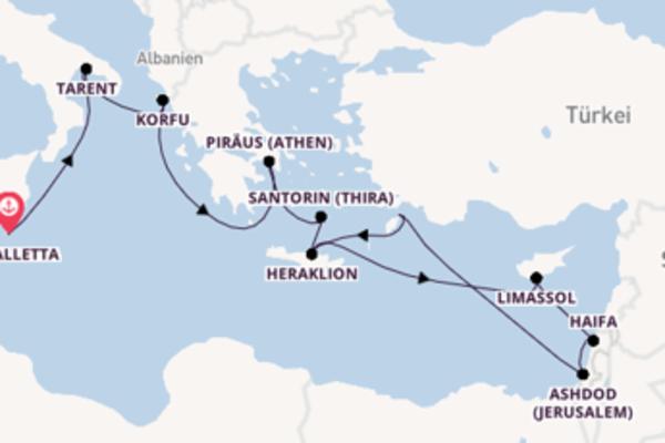 In 15 Tagen nach Heraklion über Limassol
