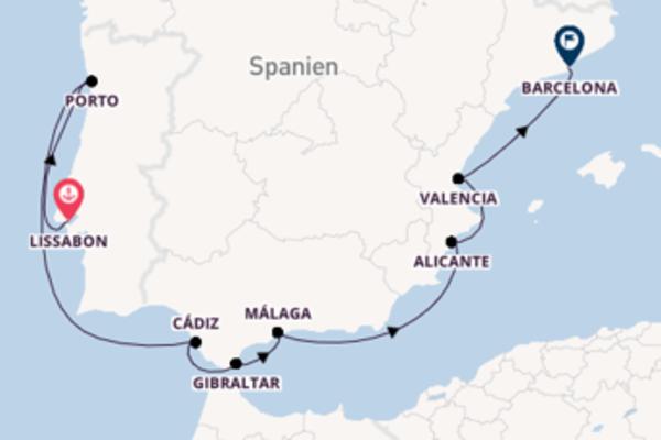 In 11 Tagen nach Barcelona über Alicante