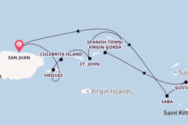 In 8 Tagen nach San Juan über Prickly Pear Island