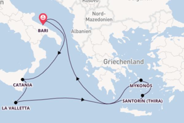 In 8 Tagen nach Bari
