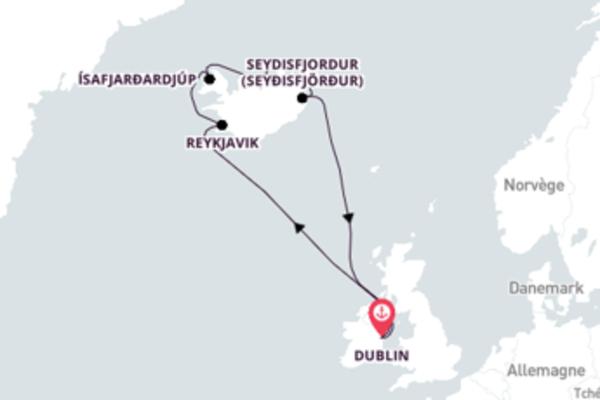 13 jours de navigation à bord du bateau Azamara Quest depuis Dublin