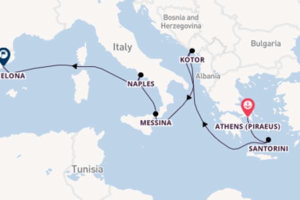 Cruising to Barcelona from Athens (Piraeus)