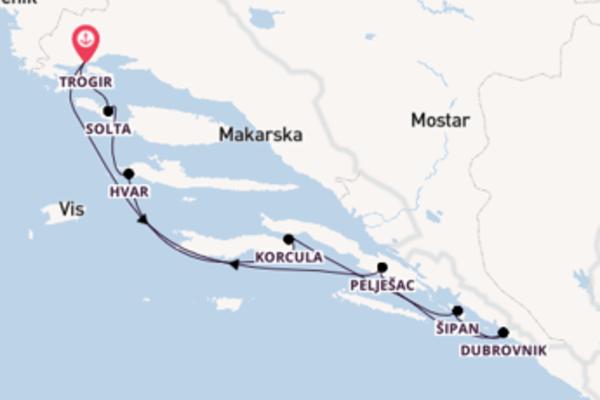 Mit Rad & Schiff durch Süddalmatien