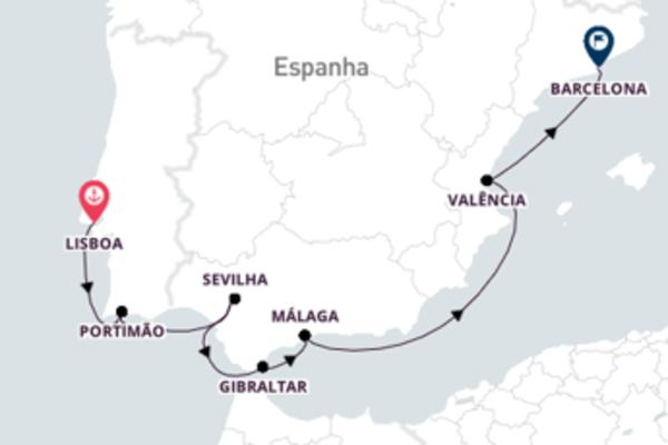 Cruzeiro de 9 dias com o Azamara Journey
