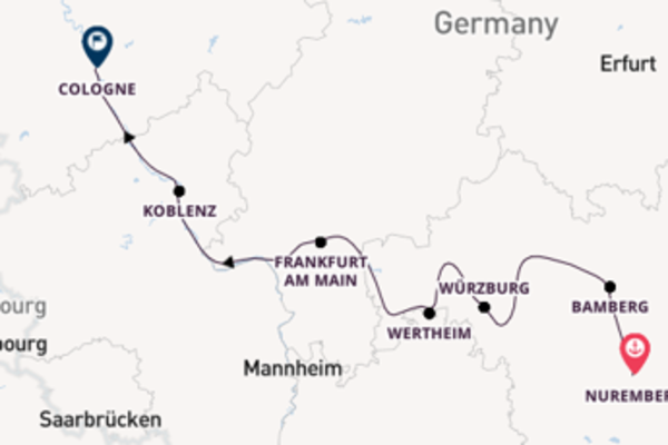 Sailing with A-ROSA Cruises from Nuremberg to Cologne