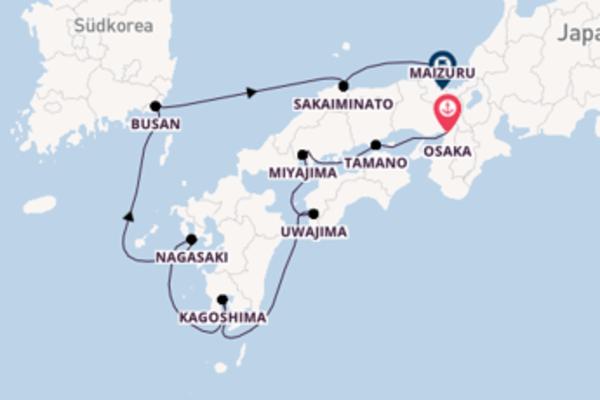 In 9 Tagen nach Maizuru über Tamano