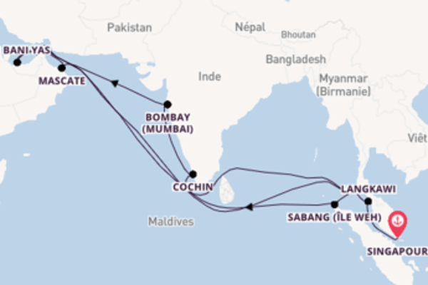 19 jours pour découvrir Sabang (île Weh) à bord du beateau Seabourn Ovation
