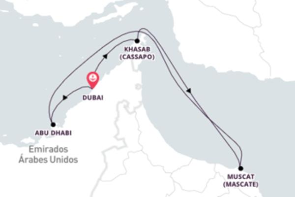 Majestoso cruzeiro de 8 dias até Dubai