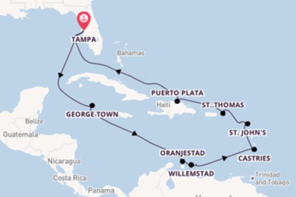 Cruise met Norwegian Cruise Line naar het magnifieke Tampa