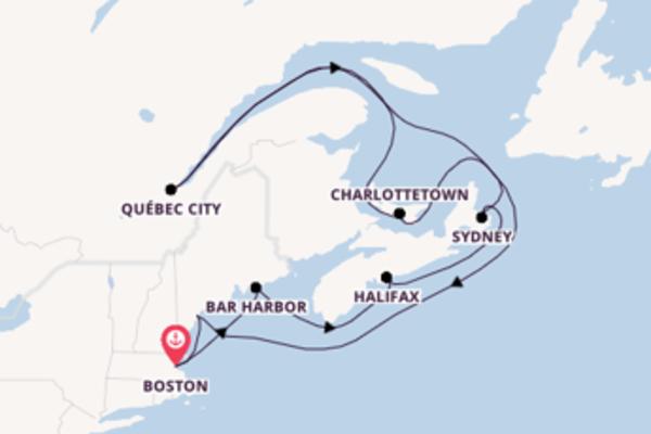 Cruising from Boston via Bar Harbor