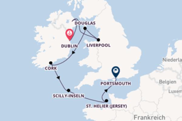 In 8 Tagen nach Portsmouth