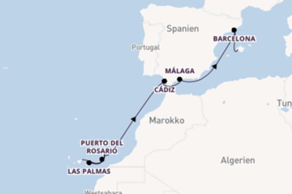 11-tägige Kreuzfahrt von Santa Cruz de Tenerife nach Palma de Mallorca