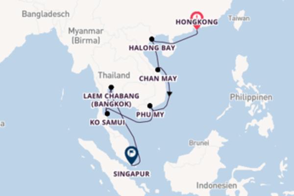 15 Tage Asien Kreuzfahrt