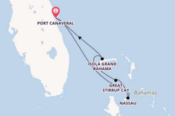 Panoramico viaggio di 5 giorni passando per Great Stirrup Cay