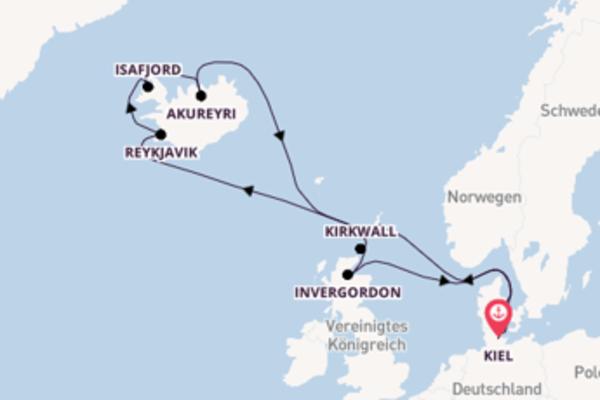 Traumhafte Reise ab Kiel